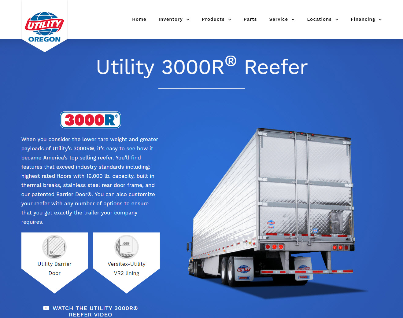 Utility Trailer Sales of Oregon - Product Page Example