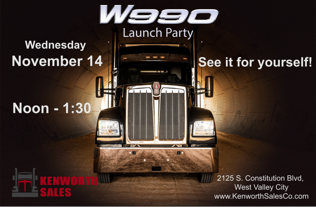 Kenworth Sales Co Will Throw W990 Launch Party on November 14th
