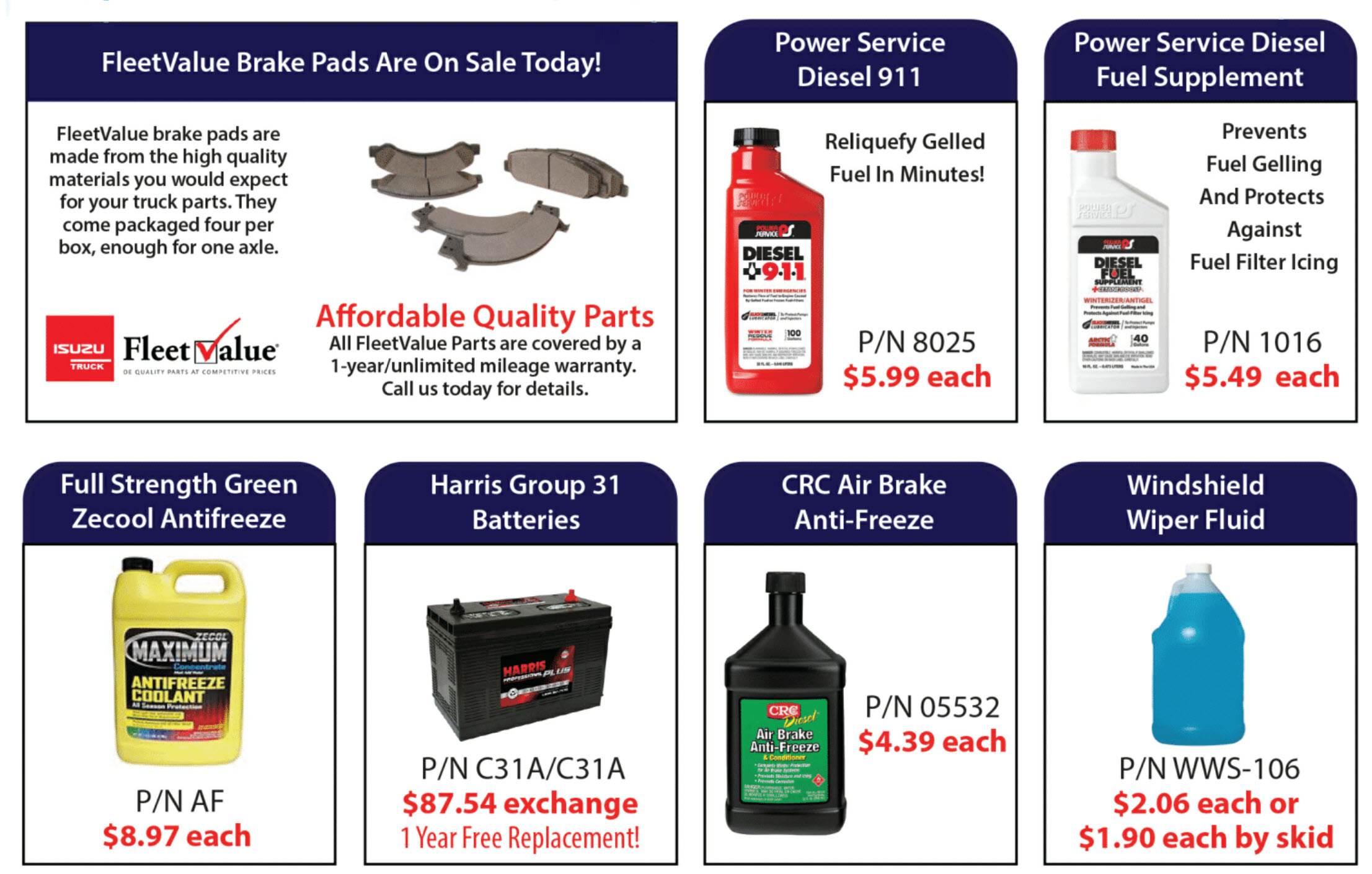 Dovell & Williams Winter Parts Offers 2019 – Glen Burnie, MD Location