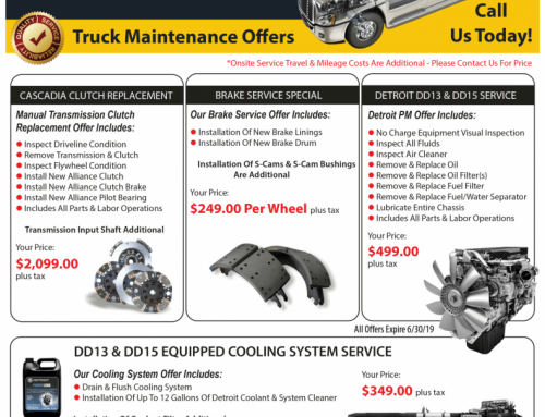 Manassas Truck & Yard Spotter Maintenance Offers