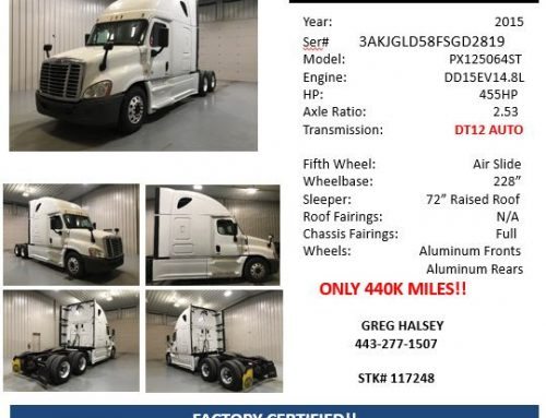 Low Mileage Bargains On Two Freightliner Cascadias
